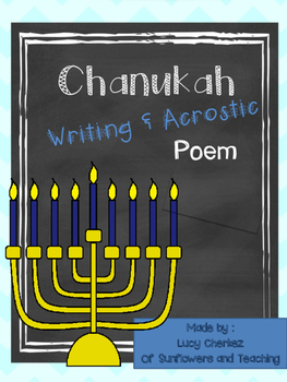 Chanukah Writing and Acrostic FREEBIE