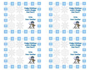 Chap-stick Holiday Cards