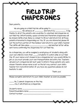 Chaperone letter
