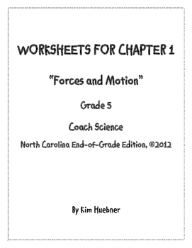 Chapter 1 Worksheets - 5th Grade Coach Science book - Nort