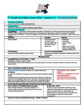 Chapter 2 Lesson 4 Grade 5 Go Math Lesson Plan