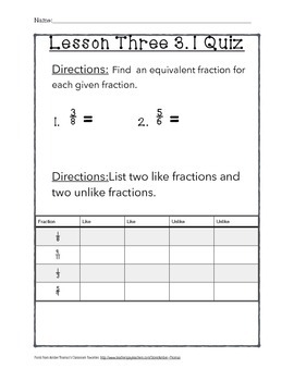 Chapter 3 Lesson 1 Quiz
