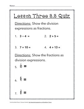 Chapter 3 Lesson 3 Quiz