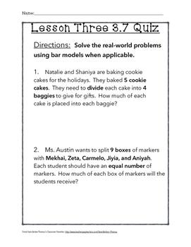 Chapter 3 Lesson 7 Quiz