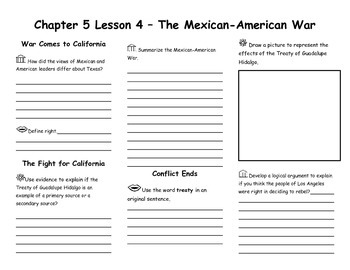 Chapter 5 Lesson 4 – The Mexican-American War