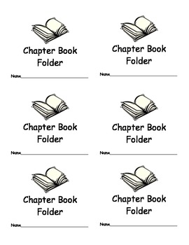Chapter Book Folder Labels for Classroom Organization Clas