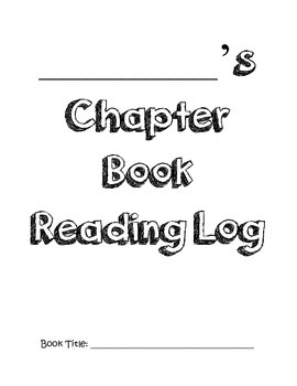 Chapter Book Reading Log