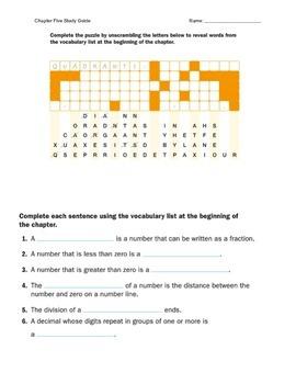 Chapter Five Study Guide Mathematics McGraw Hill