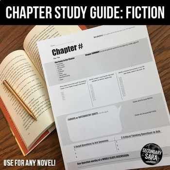 chapter study guides student led notes discussion for any novel rh teacherspayteachers com Novel Study Cartoon Generic Novel Study Guide