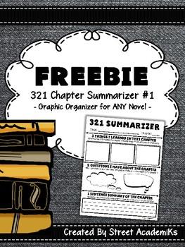 {FREE} Chapter Summarizer - Version 1 w/ 321 & 3-Sentence Summary