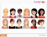 Character 12 pack sample bundle avatar portrait digital pn