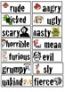 Character Adjective Flashcards