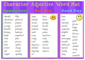 Character Adjective Mat