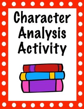 Character Analysis Activity - any novel or story