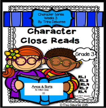 Character Analysis Close Read for Amos and Boris {Characte