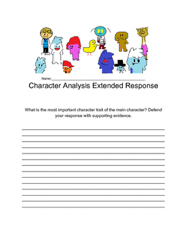 Character Analysis Extended Response Quiz Set