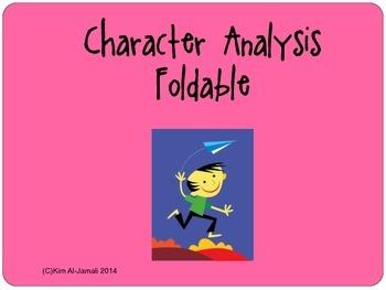Character Analysis Foldable