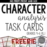 Character Analysis Task Cards for Grades 4-6 RL.1 FREEBIE