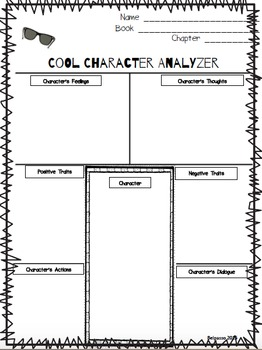 Literature Circle Response Form- Character Analyzer