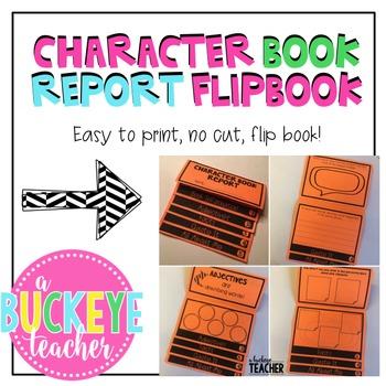 Character Book Report Flipbook