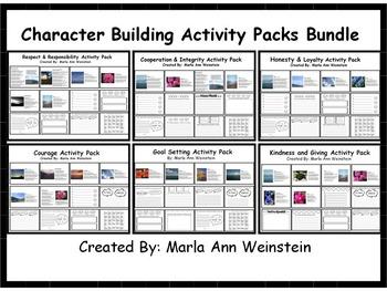 Character Building Activity Packs Bundle