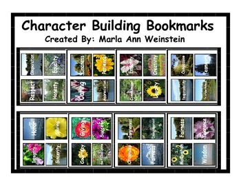 Character Building Bookmarks