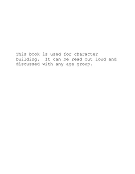 Character Building Read Out Loud Book
