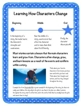 Character Change Resource Poster!