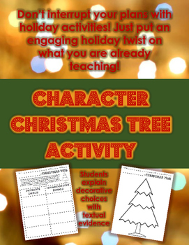 Character Christmas Tree -- A Creative Activity for ANY Text!