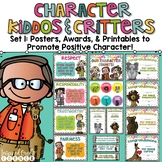 Promoting Good Character Posters, Awards, & Brag Badge Pack Set 1