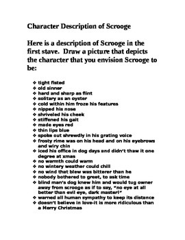 Character Description of Scrooge