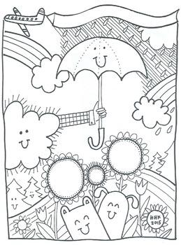 Character Ed illustrations: 7 coloring sheets & bulletin b