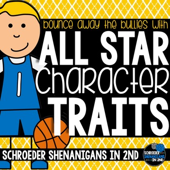 Character Education - trait cards, posters, and student awards