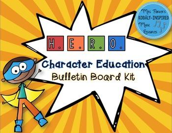 Character Education Bulletin Board Kit: H.E.R.O {Superhero