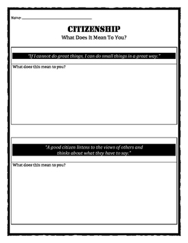 Character Education: Citizenship quotes and meanings