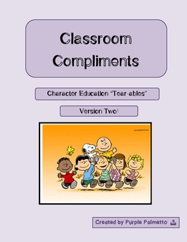 Character Education - Classroom Compliments Activity (Vers