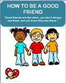 """Being a Good Friend"" lesson plan and 2 Activities"