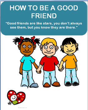 """Character Education - """"How to be a Good Friend"""" lesson pla"""