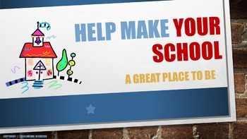Customizable Character Education Lesson: School Pride, Sch