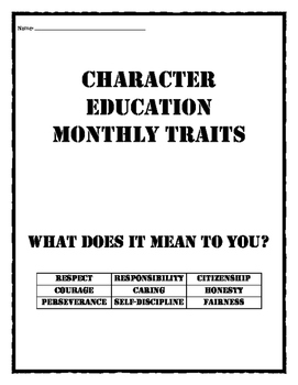 Character Education Monthly Traits / Values: Quotes and th