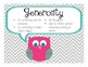 Character Education Posters-Owl Theme