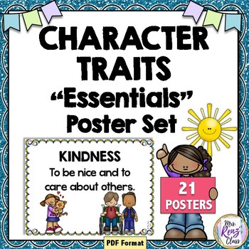 Character Trait Posters for Word Walls to Teach Life Skills