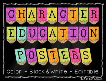 Character Education Posters {Editable}