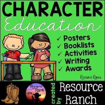 Character Education Posters-Writing-Activities-Awards