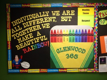 Character Education: Respect bulletin board idea