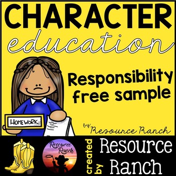 Character Education - Responsibility FREE Sample