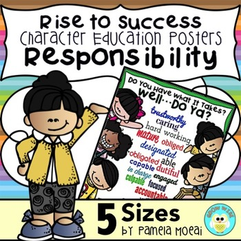 """SEL Character Education:  Rise to Success """"Responsibility"""""""