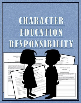 "Character Education""Responsible"" Great for PBIS and Advisory"
