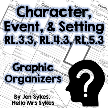 Character, Event, and Setting - Fiction Graphic Organizers