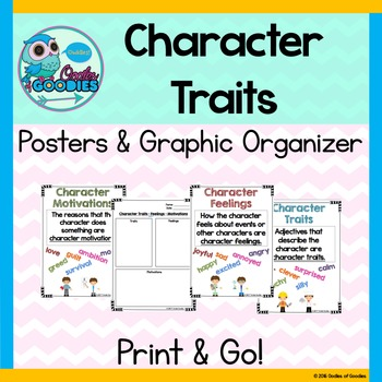 Character - Feelings, Traits, & Motivations (Posters and G